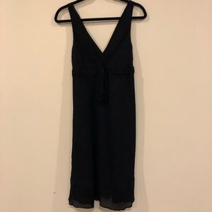 JCrew black silk cocktail dress